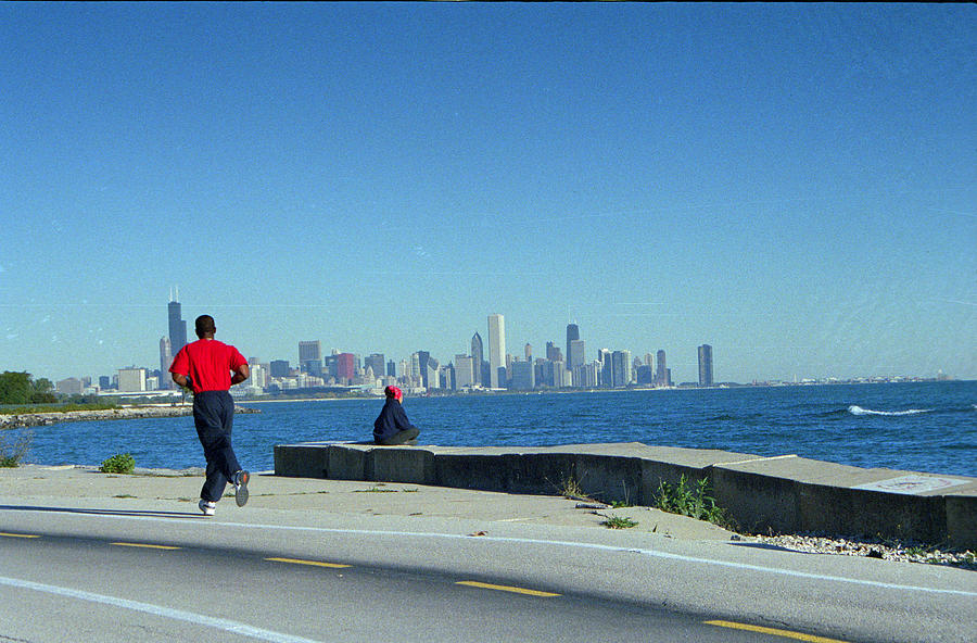 Runner Photograph - Chicago Lakefront Runner by Eric Miller