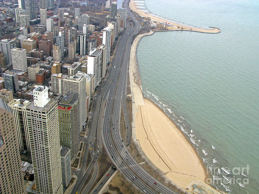 Chicago Photograph - Chicago Lakeshore by Ann Horn