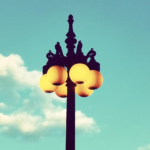 Chicago Photograph - Chicago Lamp Post And Blue Skies by Jill Tuinier