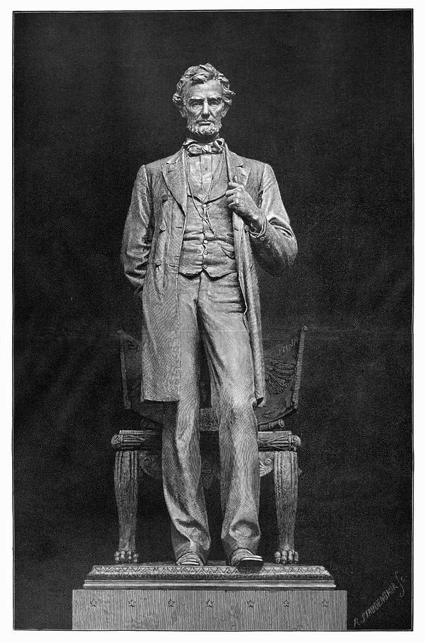 1887 Painting - Chicago Lincoln Statue by Granger