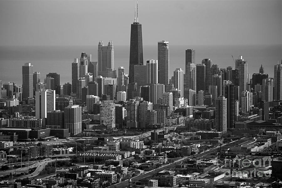 Black and white photograph chicago looking east 01 black and white by thomas woolworth