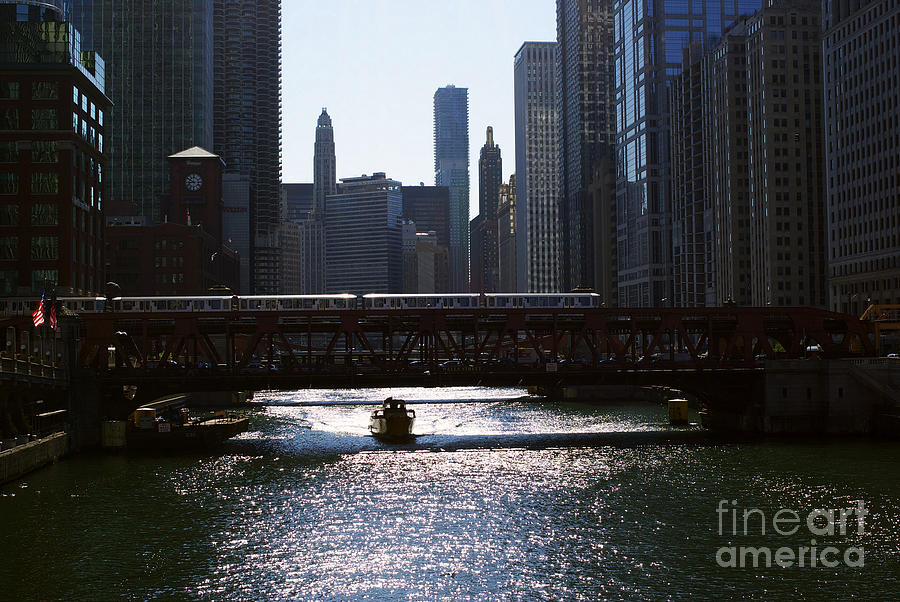 Chicago Morning Commute Photograph
