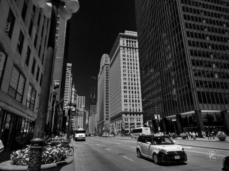 Chicago Photograph - Chicago - N Michigan Ave 001 by Lance Vaughn