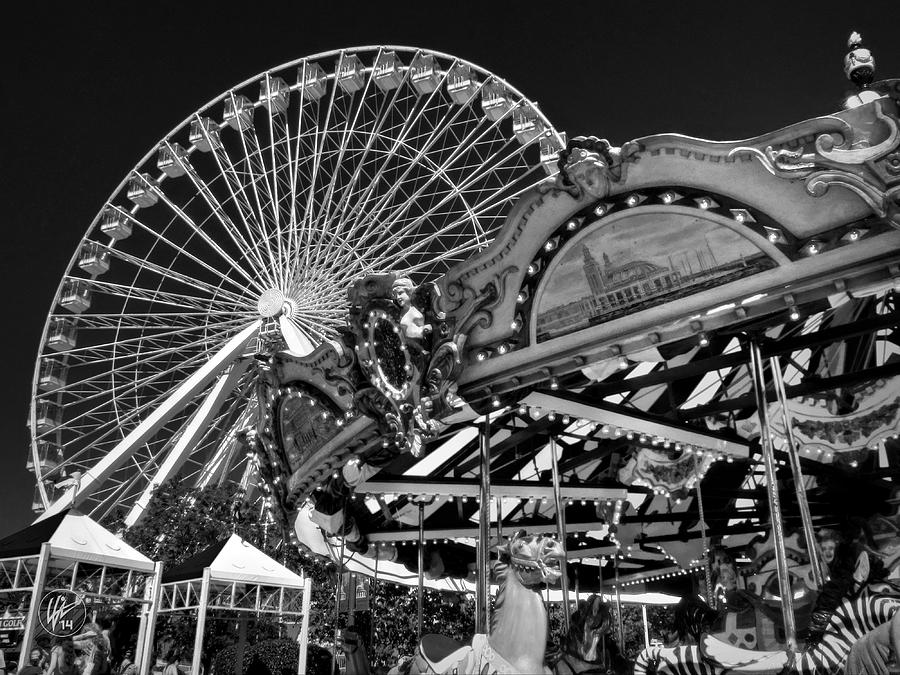 Chicago Photograph - Chicago - Navy Pier - Pier Park 001 by Lance Vaughn