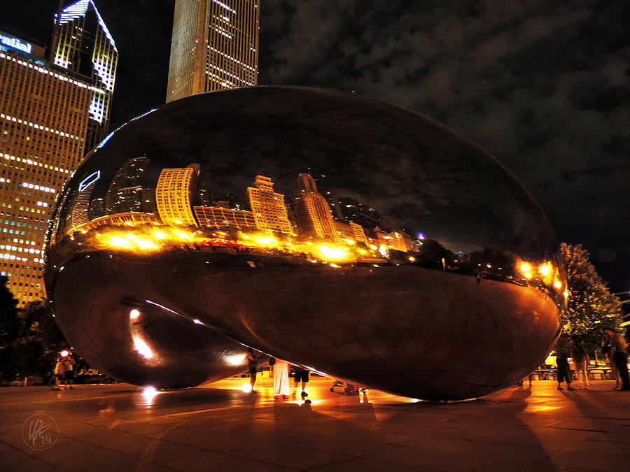 Chicago Photograph - Chicago Night At Cloud Gate 001 by Lance Vaughn