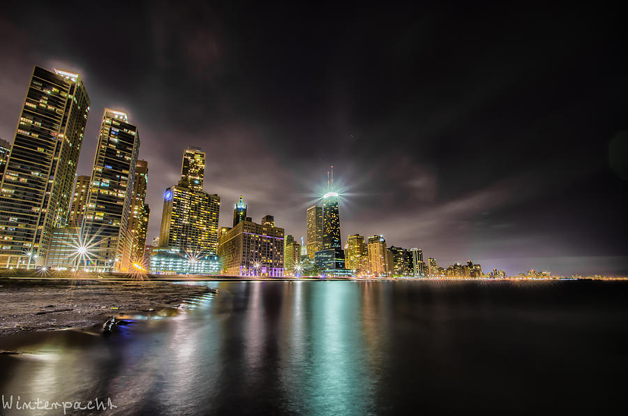 Chicago Photograph - Chicago Nightscape by Raf Winterpacht