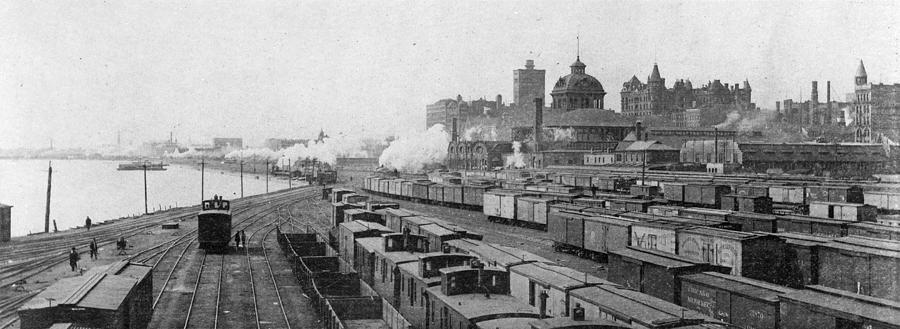 1893 Photograph - Chicago Railroads, C1893 by Granger