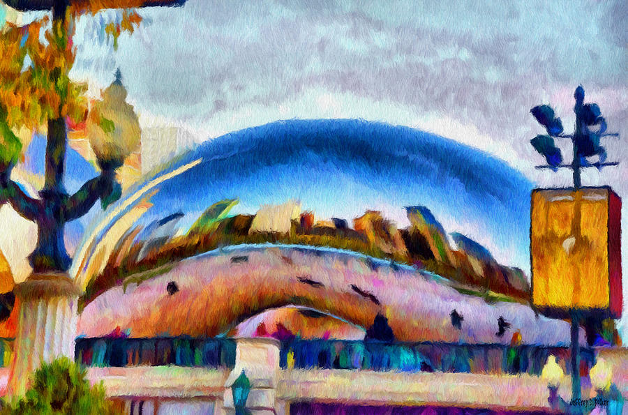 Bean Painting - Chicago Reflected by Jeff Kolker