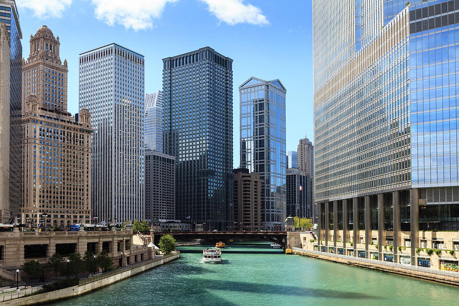 Chicago River And Cityscape Photograph by Fraser Hall