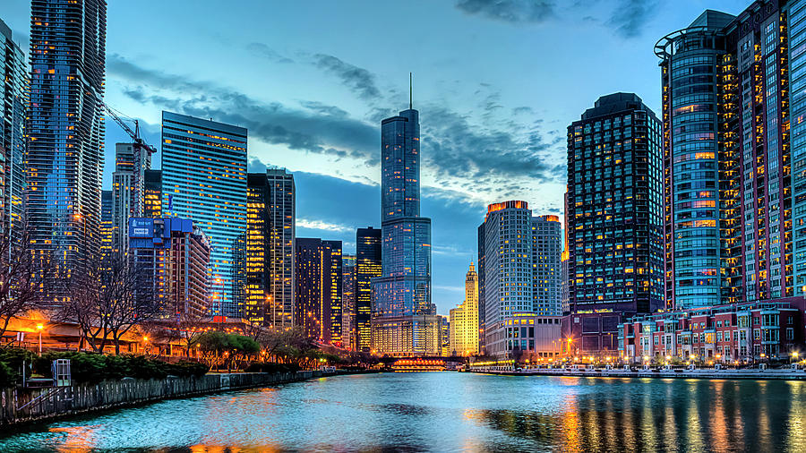 Tranquility Photograph - Chicago River by Carl Larson Photography