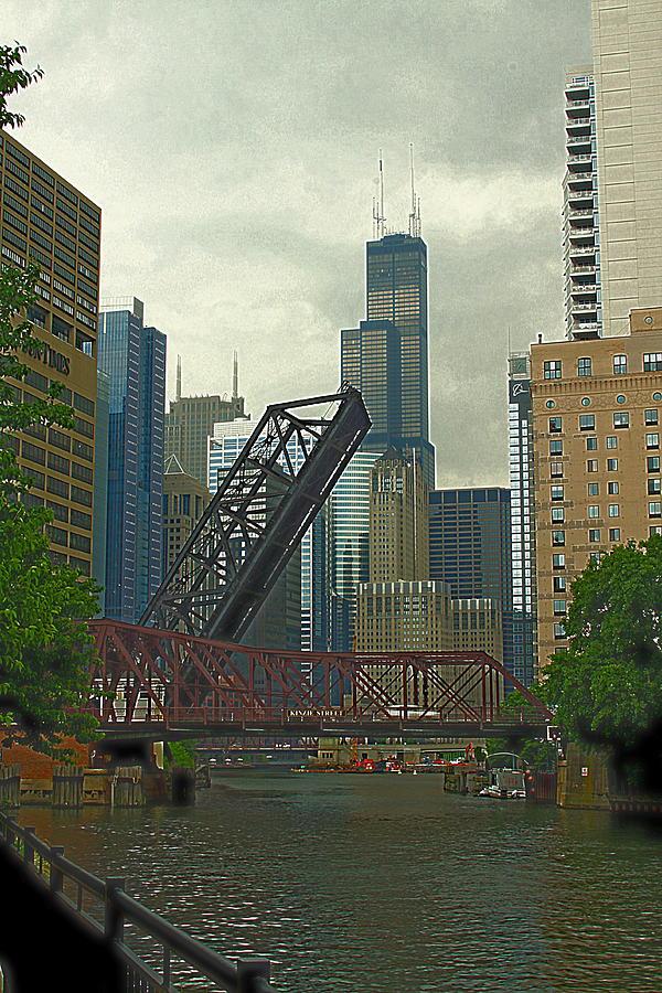 River Photograph - Chicago River Near Kinzie by Greg Thiemeyer