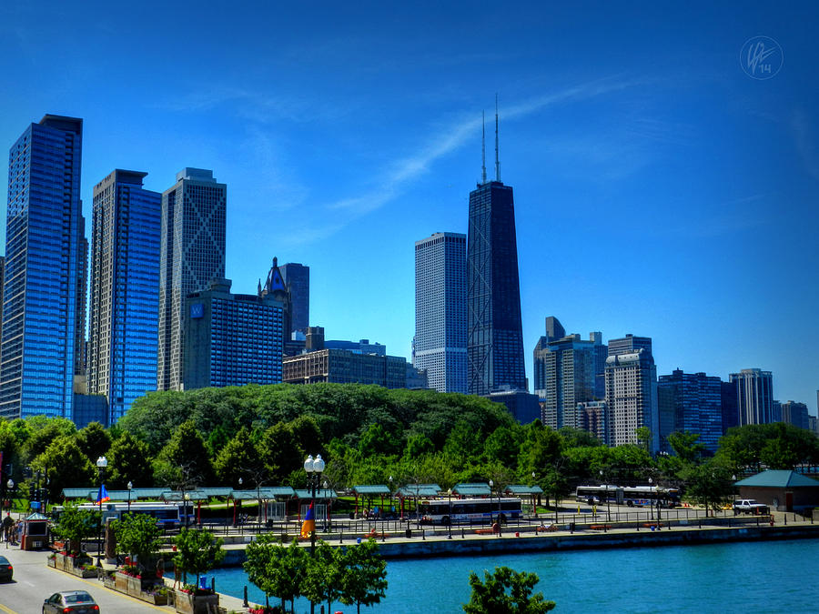 Chicago Photograph - Chicago Skyline 002 by Lance Vaughn