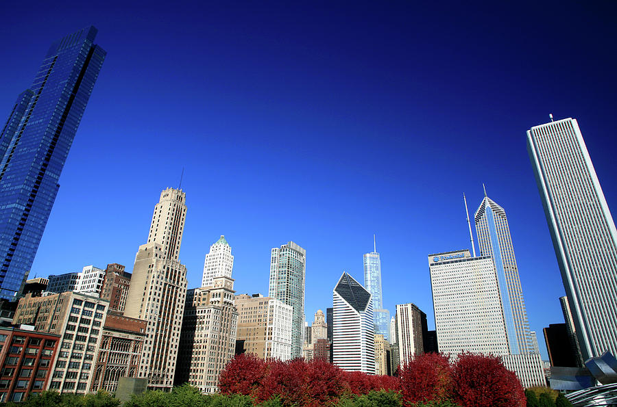Chicago Skyline And Millennium Park Photograph by Hisham Ibrahim