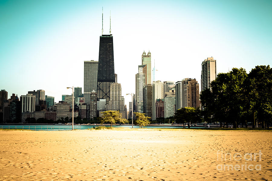 2012 Photograph - Chicago Skyline At North Avenue Beach Photo by Paul Velgos