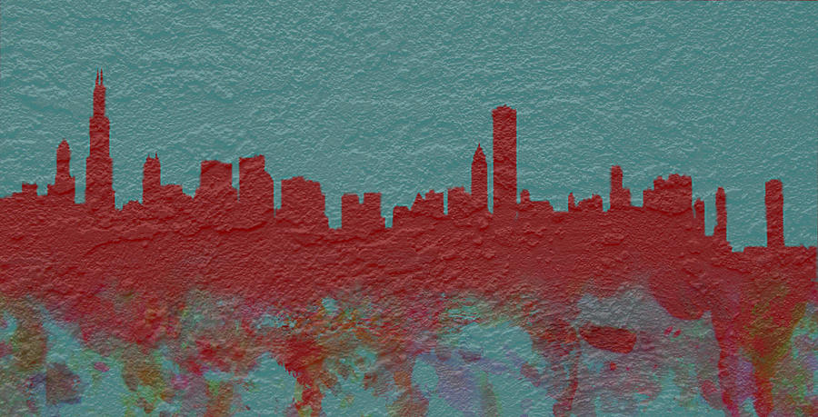 Brick Digital Art   Chicago Skyline Brick Wall Mural By Brian Reaves Part 75