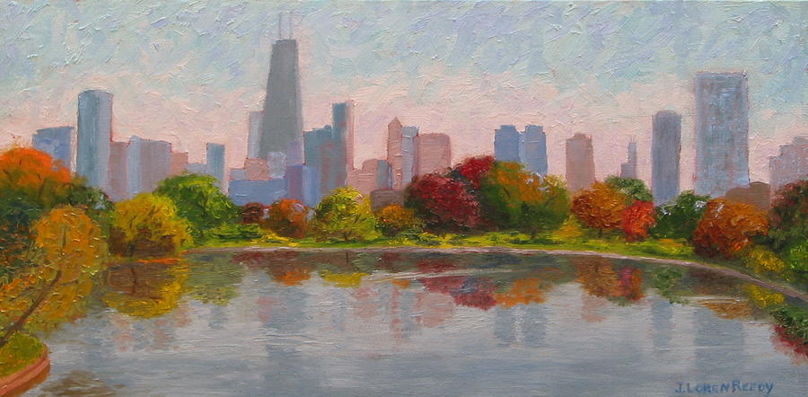 Chicago Skyline from Lincoln Park by J Loren Reedy