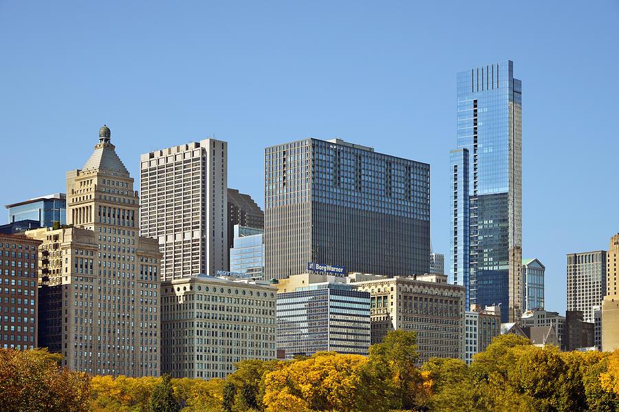Metropolitan Photograph - Chicago Skyline From Millenium Park II by Christine Till