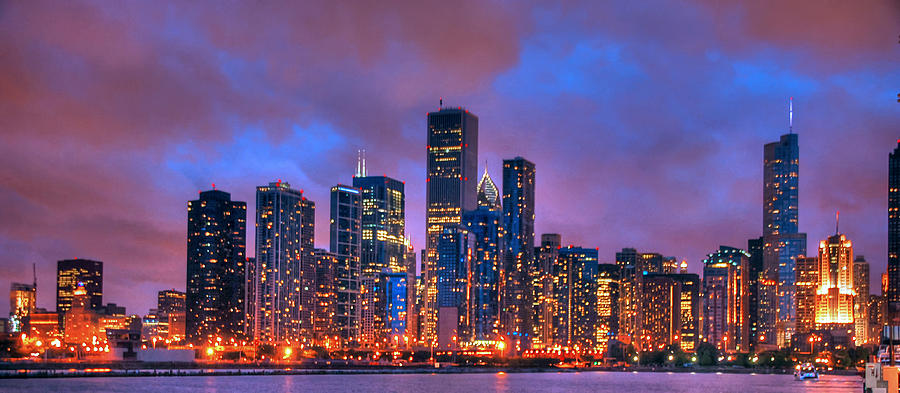 Chicago Photograph - Chicago Skyline From Navy Pier View 2 by Ken Smith