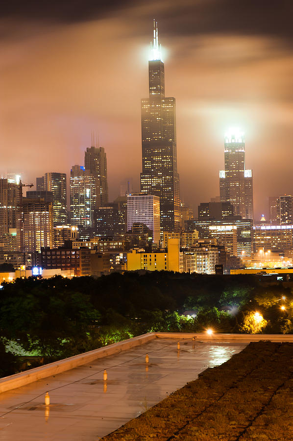 Chicago Skyline From The Rooftop Photograph