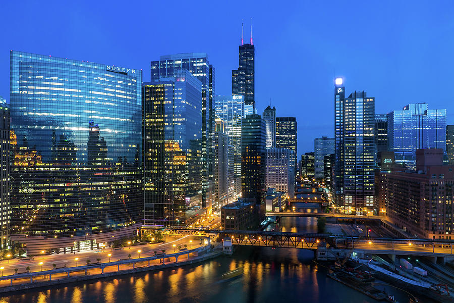 Chicago Skyline Photograph by Michael Lee