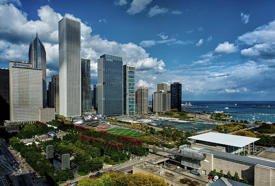 Chicago Skyline Photograph by Milosh Kosanovich - Precision Digital Photography