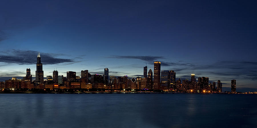 Chicago Photograph - Chicago Skyline Panorama by Andrew Soundarajan