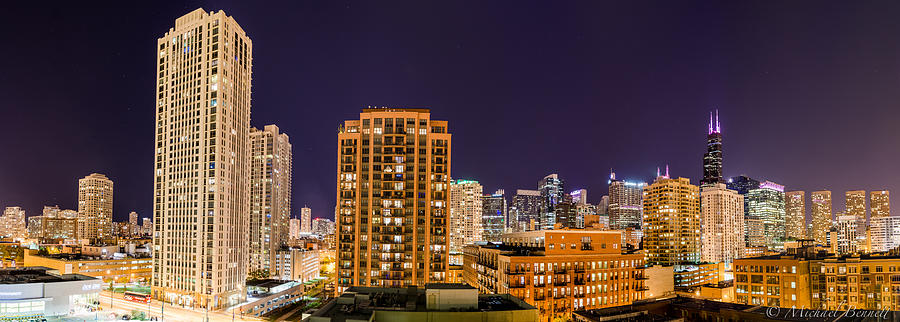 Chicago Photograph - Chicago Skyline Photography October 2014 by Michael  Bennett