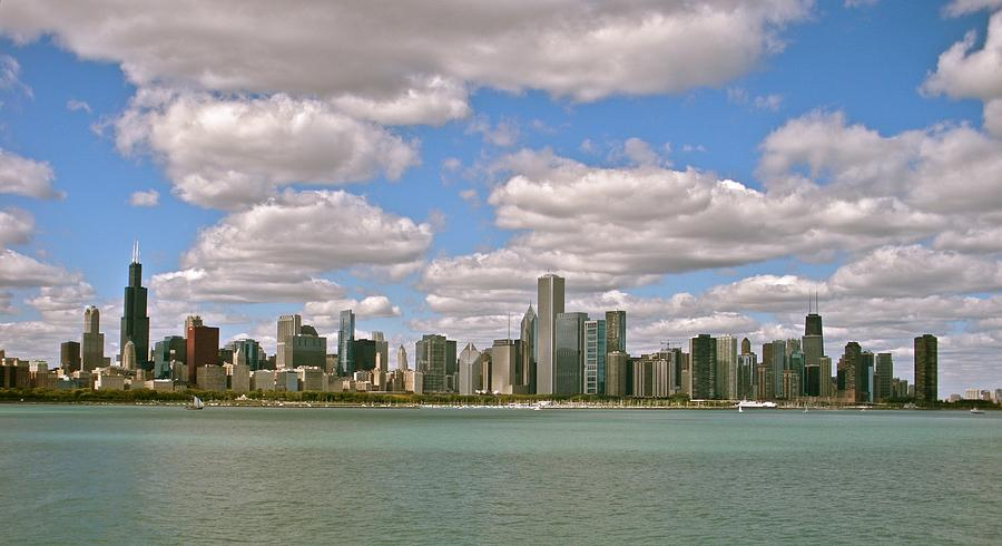 Cities Photograph - Chicago Skyline by Sharin Gabl