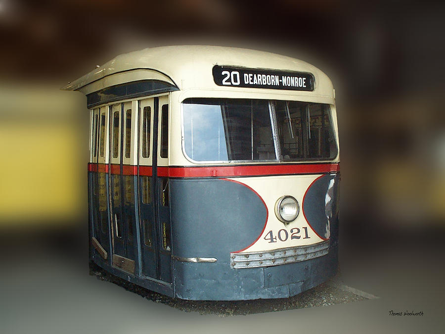 Transportation Photograph - Chicago Street Car 20 by Thomas Woolworth