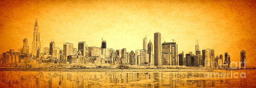 Chicago Landscape Photograph - Chicago Sunrise by Dejan Jovanovic
