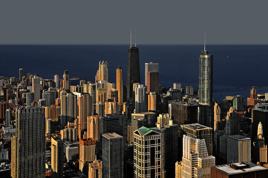 Aerial Photograph - Chicago - That Famous Skyline by Christine Till