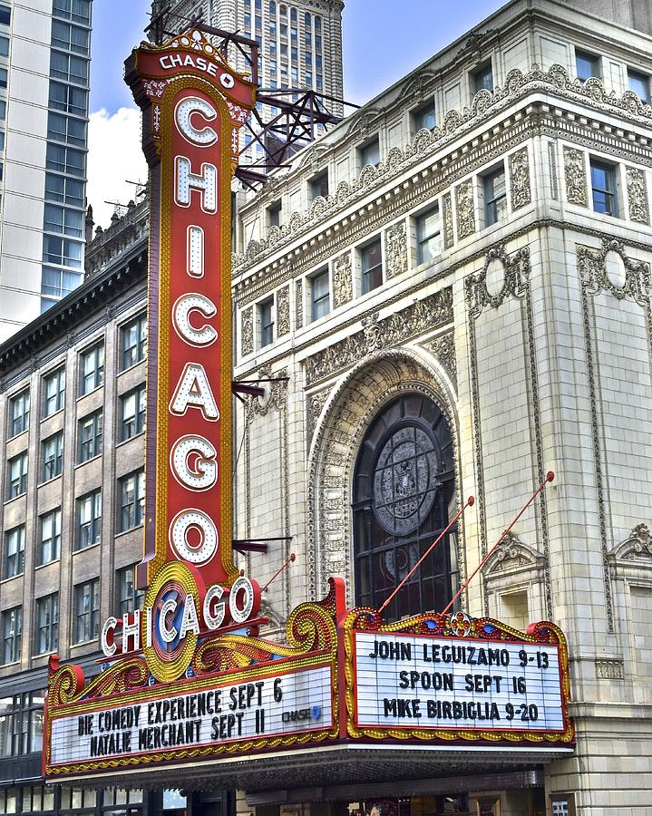 Chicago Photograph - Chicago Theater by Frozen in Time Fine Art Photography
