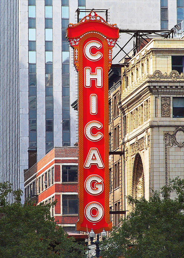 Chicago Photograph - Chicago Theatre - A Classic Chicago Landmark by Christine Till