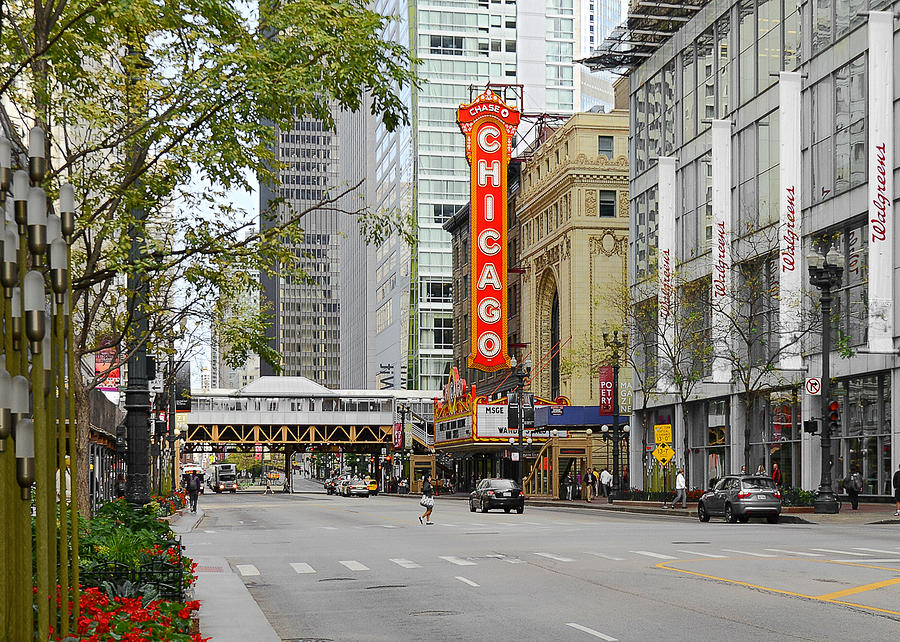 Chicago Photograph - Chicago Theatre - French Baroque Out Of A Movie by Christine Till