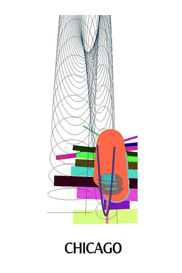 Chicago Digital Art - Chicago - Ticker Symbol JNJ Monthly by Stephen Coenen