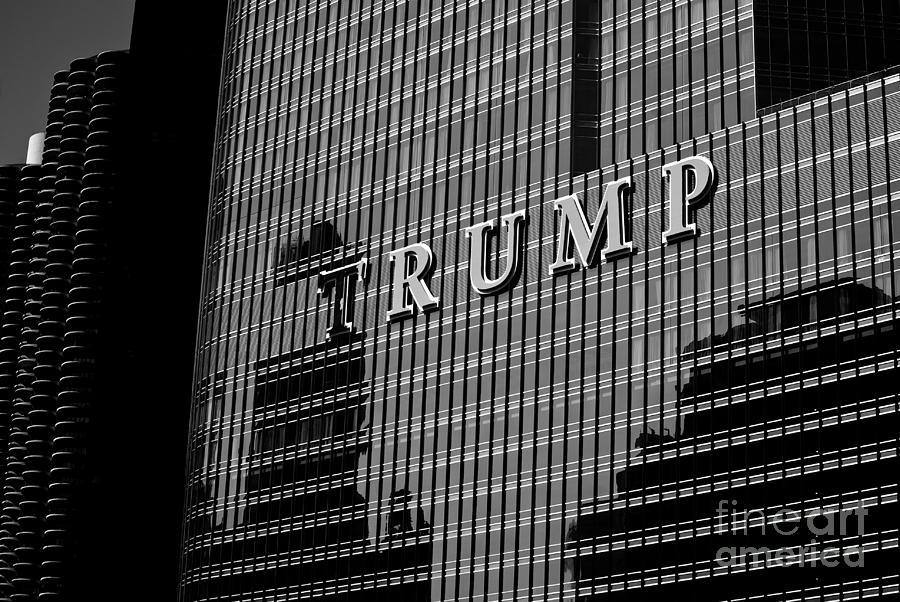 Chicago Trump - Monochrome by Frank J Casella