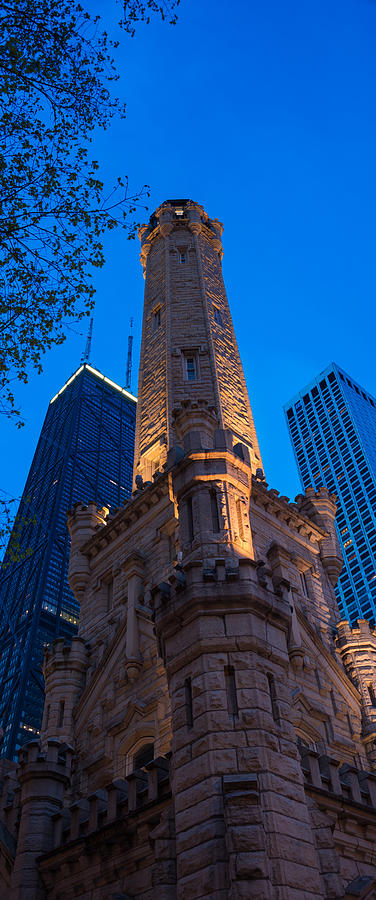 Chicago Photograph - Chicago Water Tower Panorama by Steve Gadomski