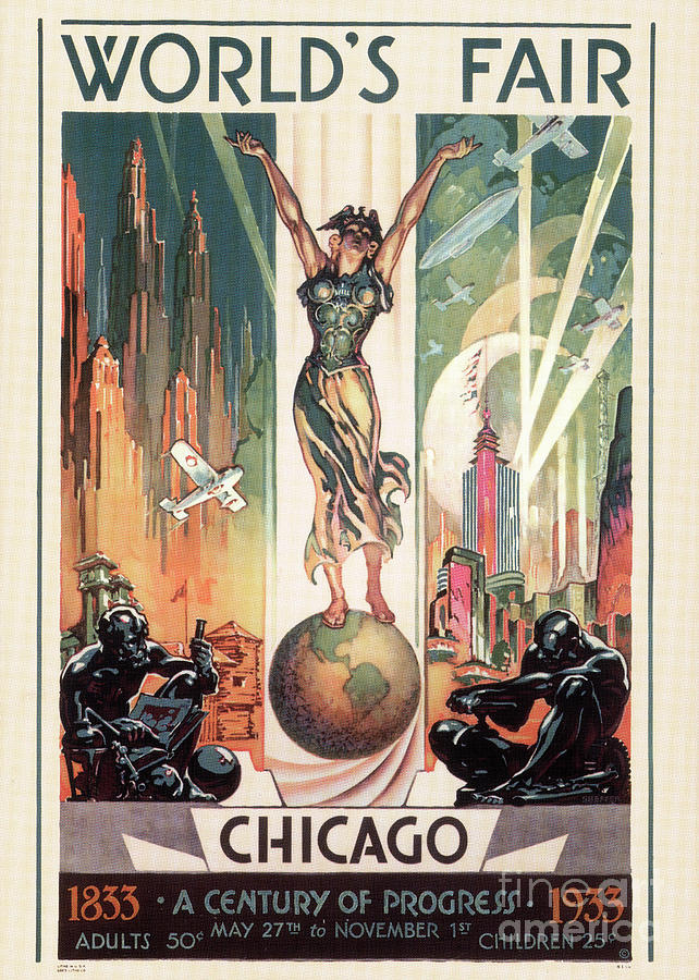 1933 Painting - Chicago Worlds Fair 1933 by Granger
