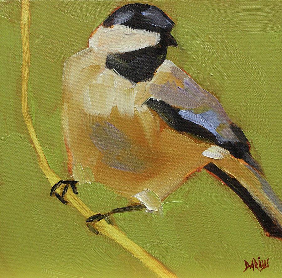 Bird Painting - Chickadee I by Sue  Darius