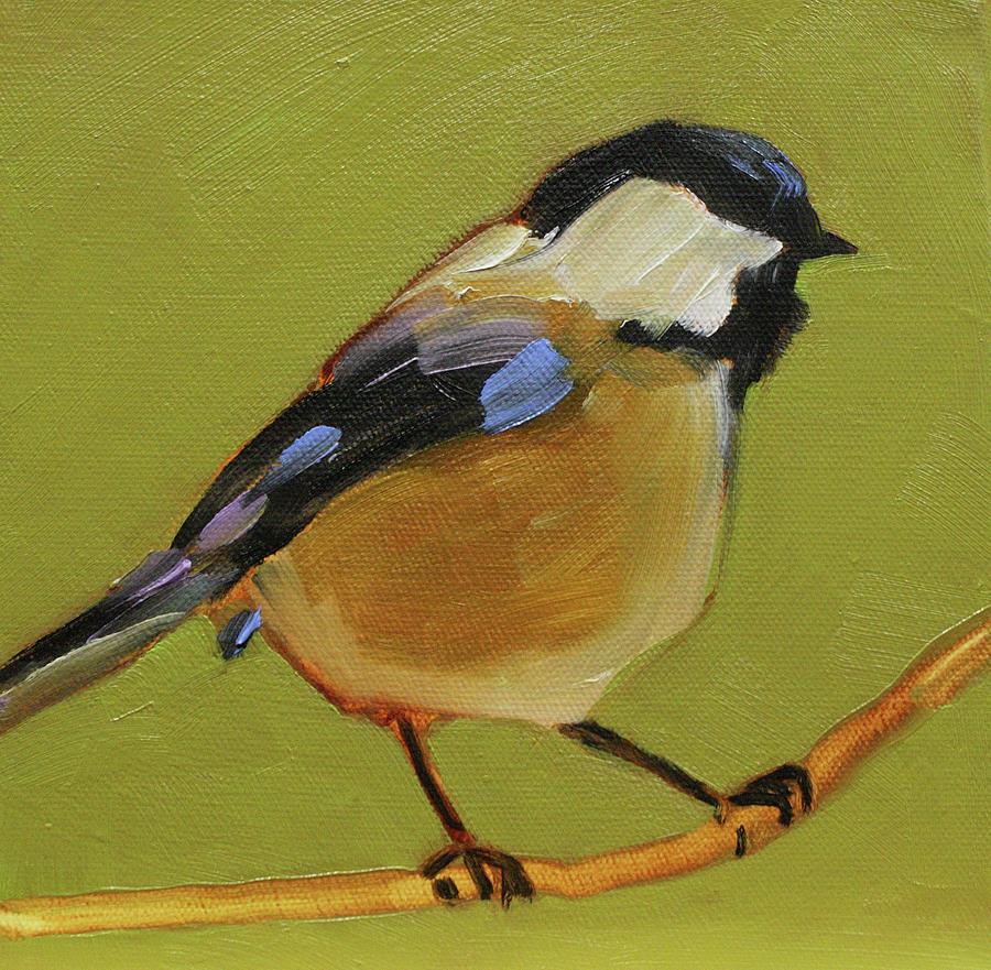 Birds Painting - Chickadee IIi by Sue  Darius