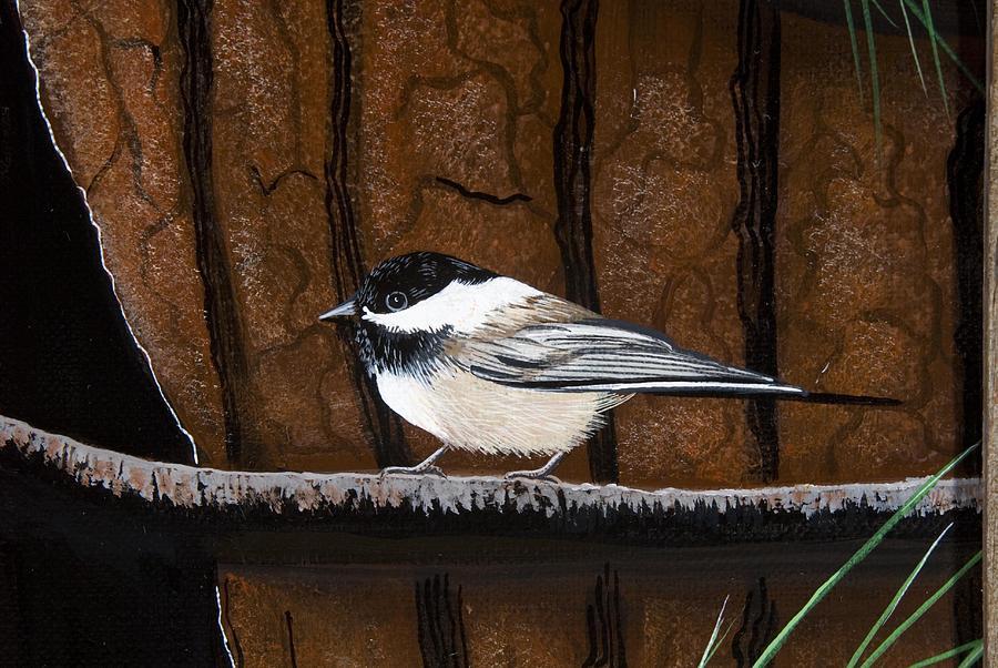 Nature Painting - Chickadee by Jennifer Lake
