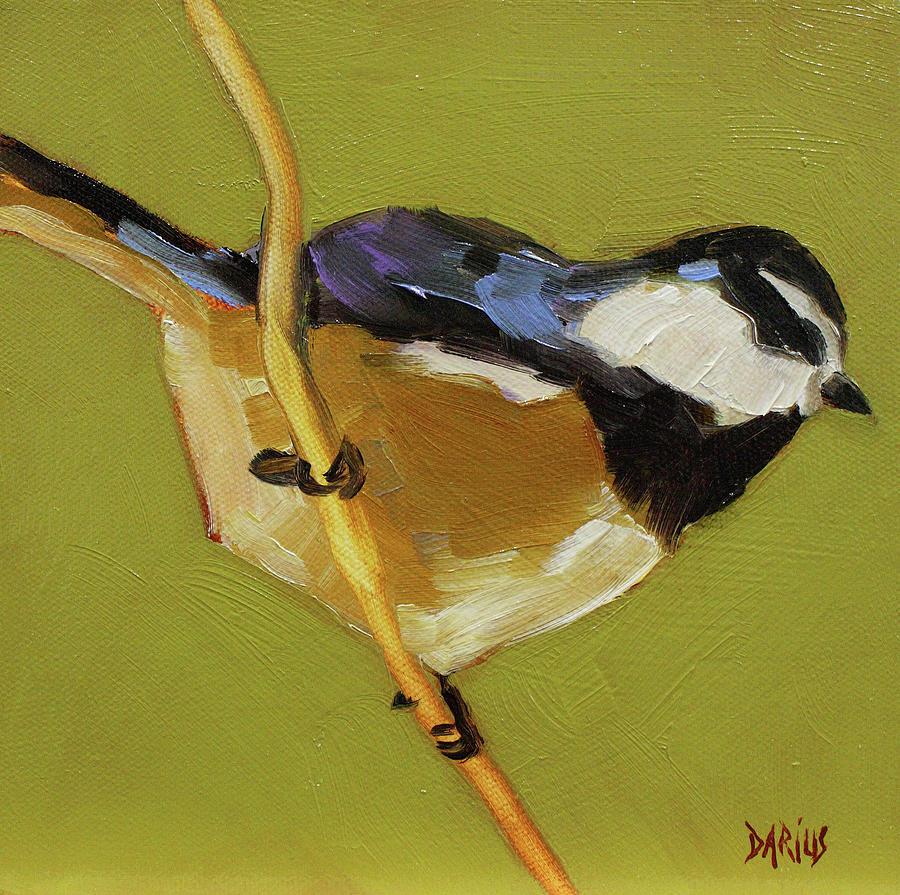 Birds Painting - Chickadee V by Sue  Darius