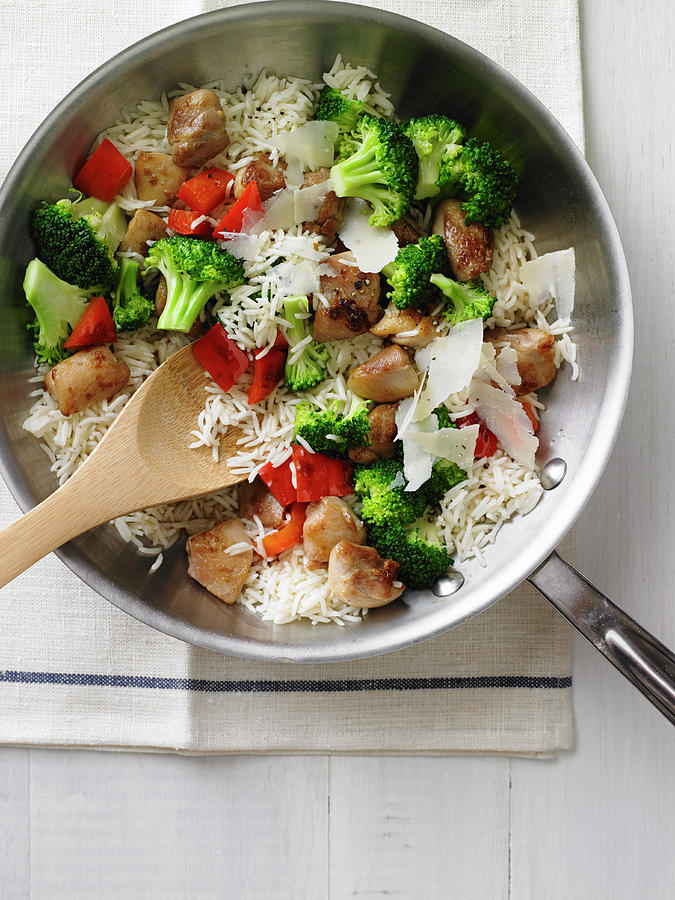 Chicken And Rice Stir Fry Photograph by Iain Bagwell