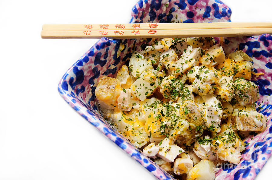 Food Photograph - Chicken Cheese Potato Casserole by Andee Design