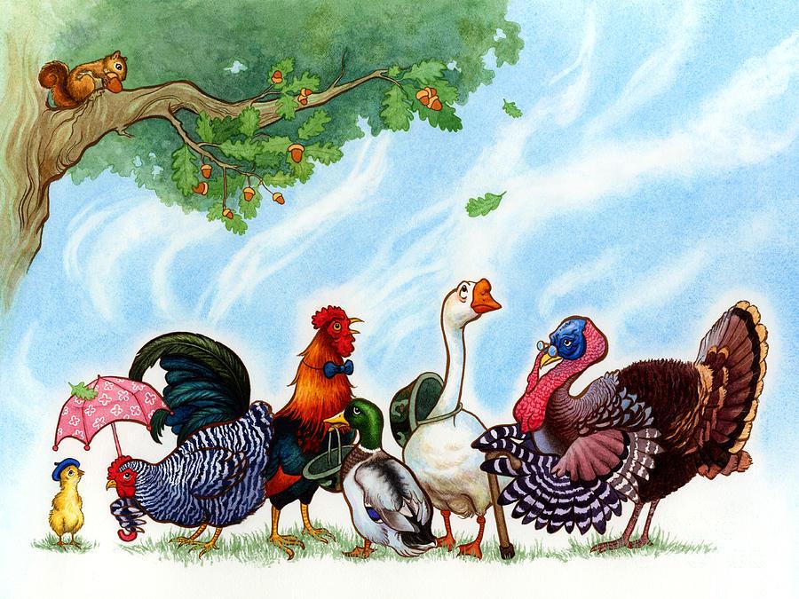 Chicken Painting - Chicken Licken by Isabella Kung