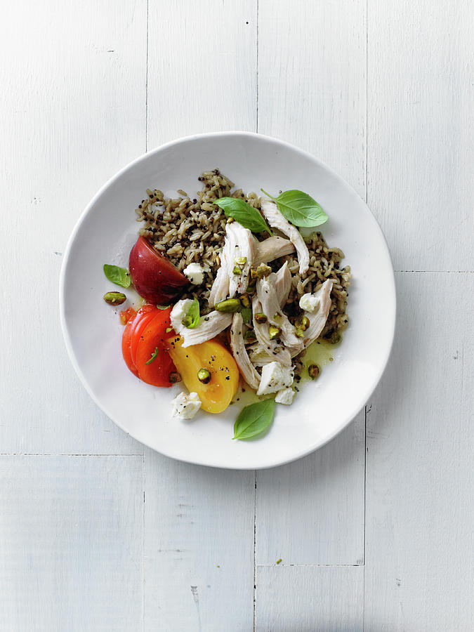Chicken Salad With Orange-pistachio Photograph by Iain Bagwell