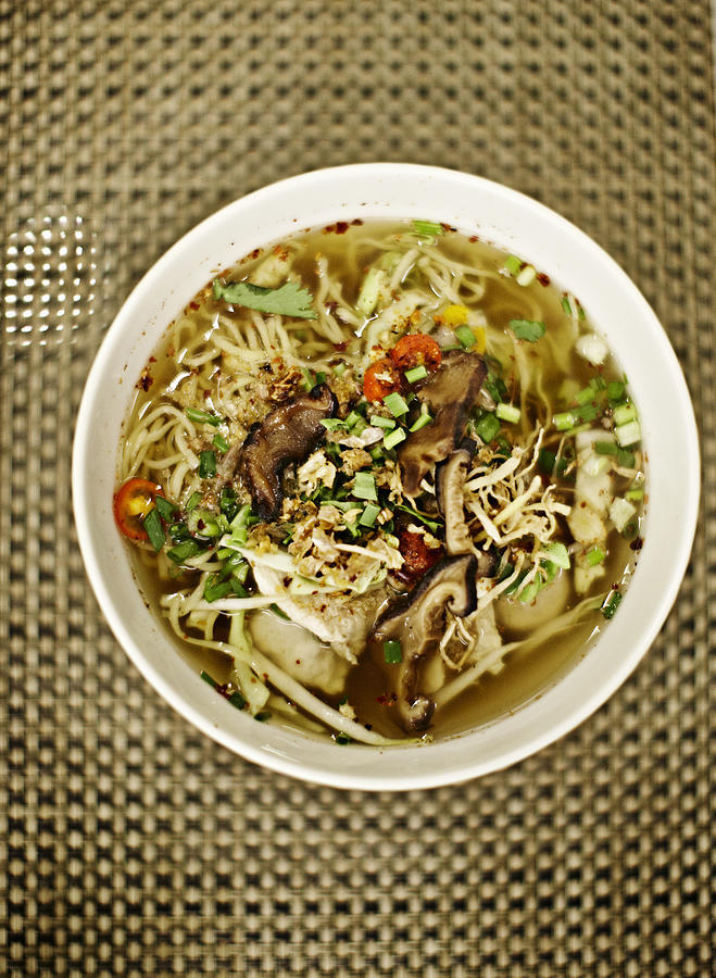 Chicken Soup With Noodles Photograph by Niels Busch