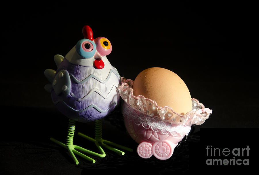 Kids Photograph - Chicken With Her Baby Egg by Victoria Herrera