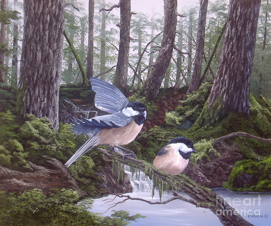Chicks in The Forest by Michael Allen