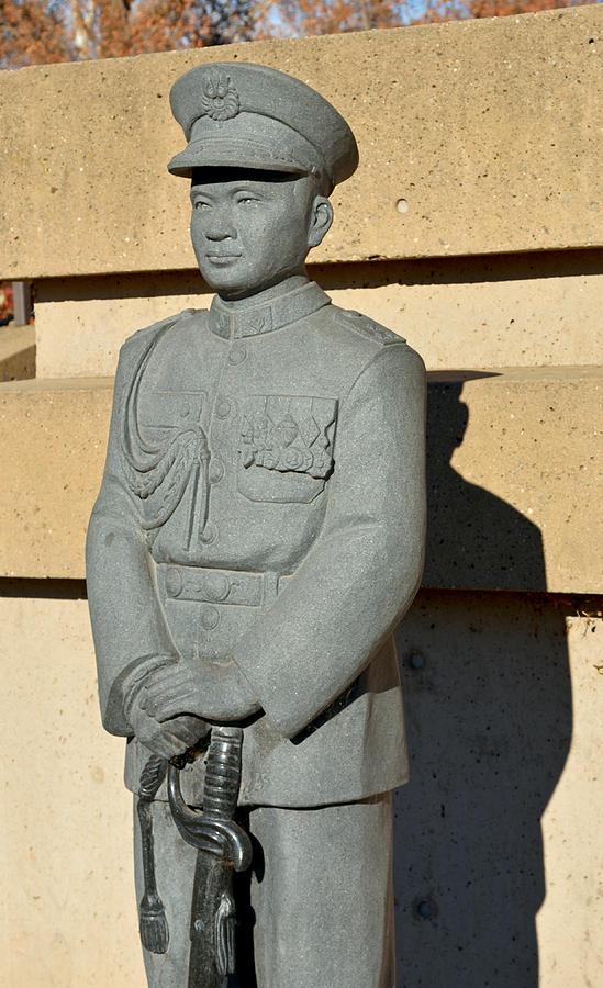 Vang Photograph - Chicos General Vang Statue In January 2014 by James Warren